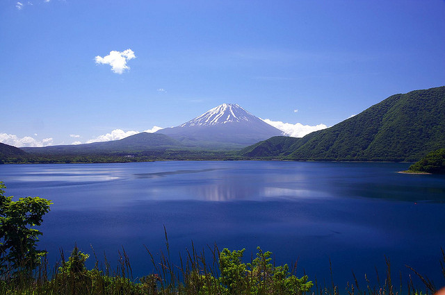Mt. Fuji and Lake Motosuko