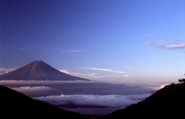 Mt. Fuji from Mikasa Pass.  Photo by