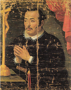 17th century painting of Hasekura Tsunenaga (Christianized name) Don Felipe Francisco Hasekura  by Claude Deruet